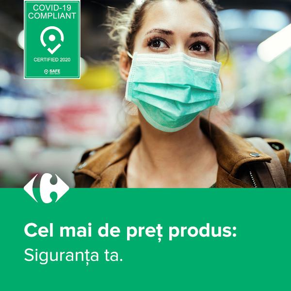 Magazinele Carrefour, la standarde internationale de siguranta impotriva covid