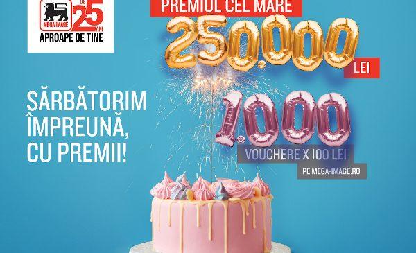 Mega Image sărbătorește 25 de ani în România printr-o campanie dedicată, cu premii speciale pentru clienți