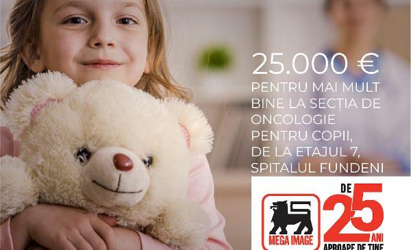 La aniversarea a 25 de ani, Mega Image se implică în comunitate prin renovarea secției de oncologie pediatrică de la Spitalul Fundeni, cu o donație de 25.000 de euro
