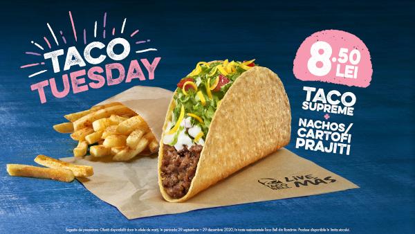 Taco Bell a lansat Taco Tuesday – oferta de marți la Taco, unul dintre cele mai îndrăgite produse din meniu