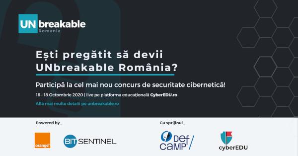 UNbreakable România – concurs național de securitate cibernetică pentru liceeni și studenți
