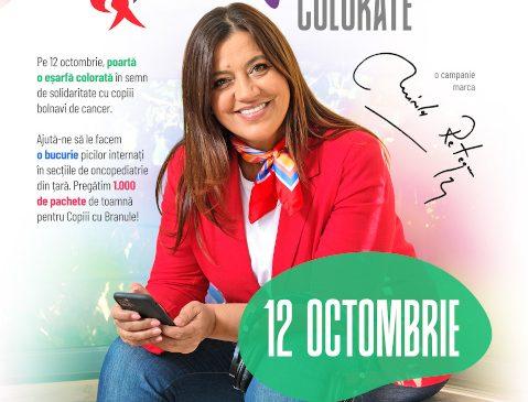 Mirela Retegan pornește o nouă campanie pentru copiii din secțiile de oncopediatrie – Ziua Eșarfelor Colorate
