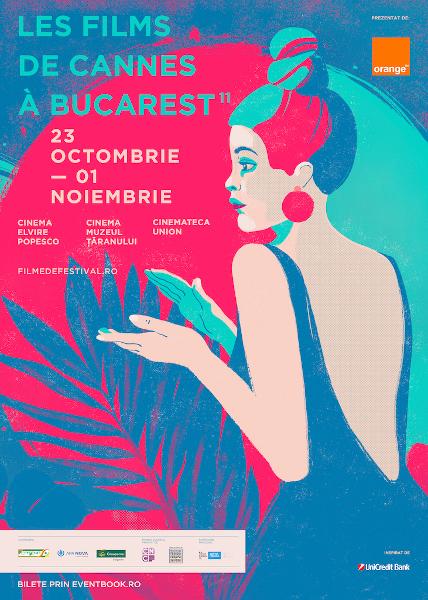 afis Les Films de Cannes a Bucarest