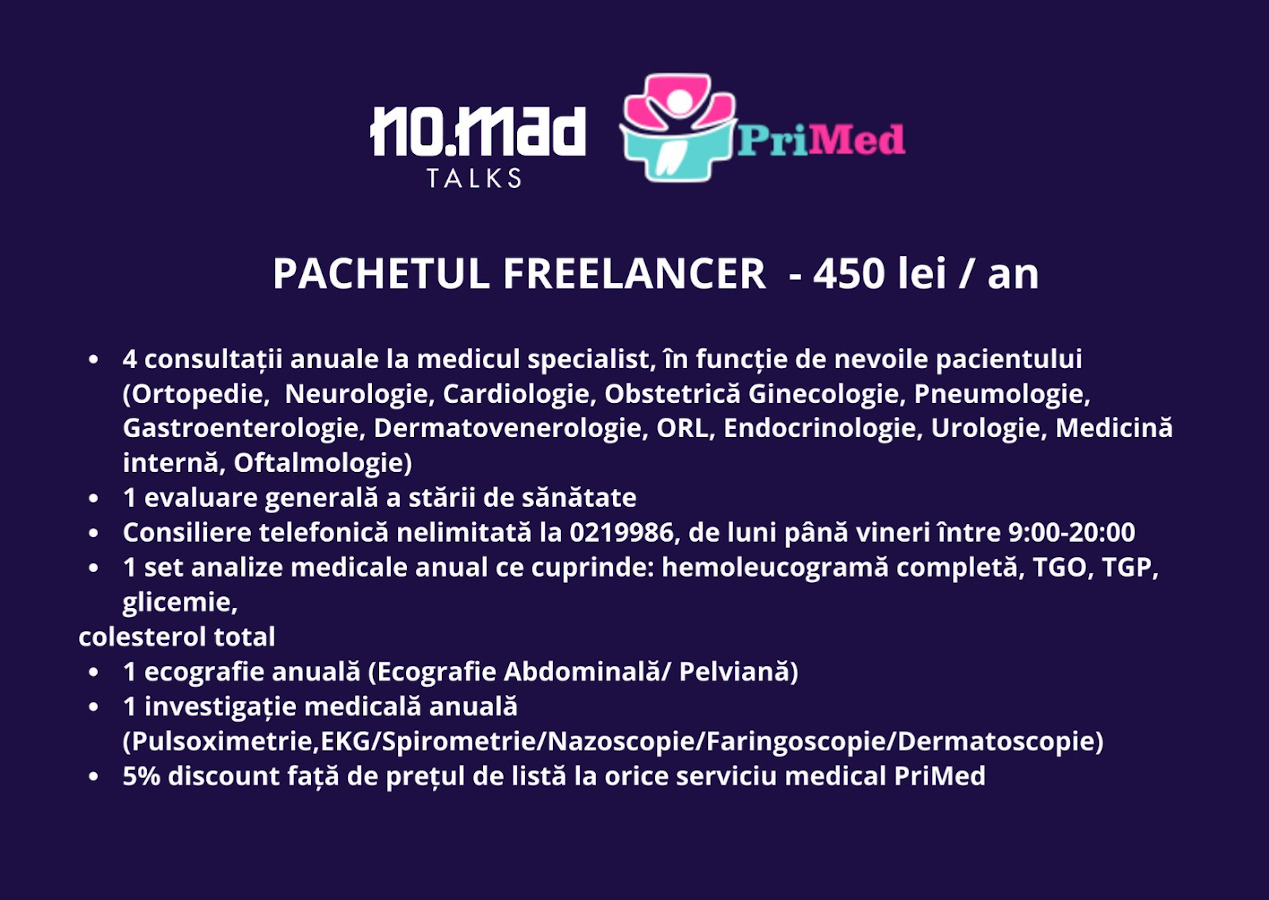 pachet asigurari medicale freelancer