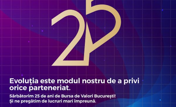 Bursa de Valori București sărbătorește 25 de ani de bursă modernă, cu o săptămână de evenimente dedicate celor implicați în piața de capital