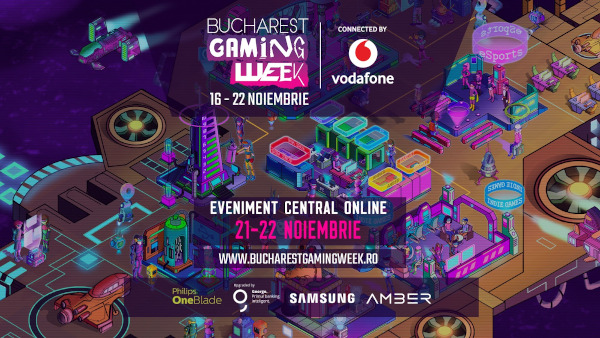 Cele mai noi jocuri din seriile Assassin's Creed și Call of Duty, prezente la ediția online a Bucharest Gaming Week