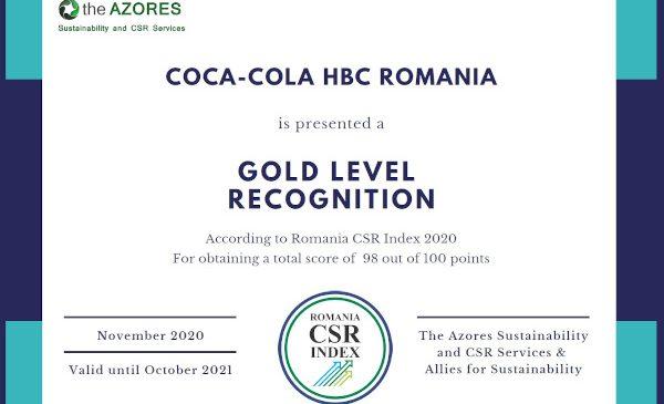 Coca-Cola HBC își reconfirmă statutul de lider în sustenabilitate, atât pe piața din România, cât și la nivel european