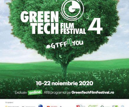 GreenTech Film Festival 4: acces la evenimente şi proiecţii de film exclusiv online timp de şapte zile