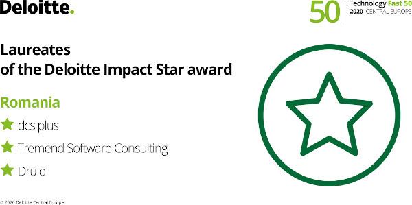 Trei companii românești sunt recunoscute în cadrul competiției Deloitte 2020 Central Europe Technology Fast 50 la categoria Impact Star Award
