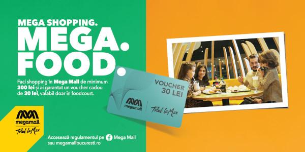 Bucură-te de cumpărături și Mega Mall îți face cinste cu pauza de masă