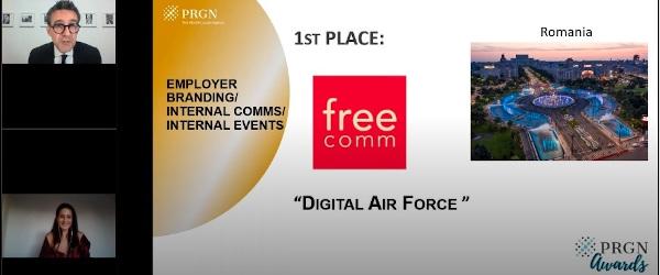 Patru premii din tot atâtea înscrieri pentru Free Communication, la PRGN Awards