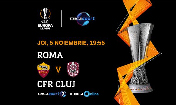 """AS Roma – CFR Cluj, în direct la Digi Sport 1: Românii așteaptă o nouă minune de la """"Super Dan"""""""