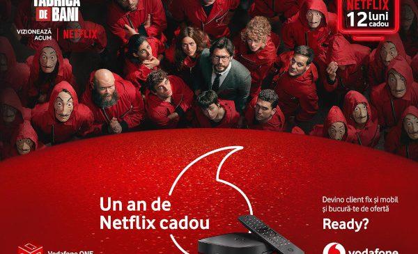 Oferta Vodafone ONE de Crăciun include 12 luni de Netflix cadou