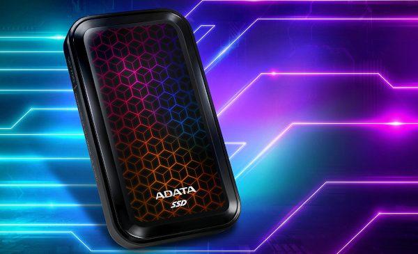 ADATA lansează SSD-ul extern SE770G cu iluminare RGB