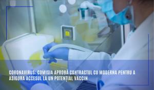 Comisia aprobă contractul cu Moderna pentru a asigura accesul la un potențial vaccin