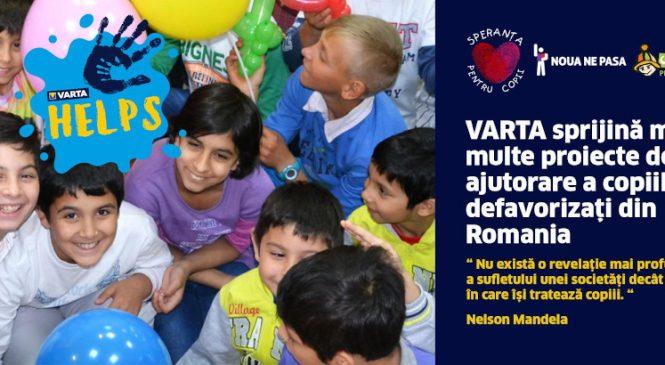 Plini de energie in sprijinul copiilor defavorizati: VARTA doneaza 1 leu din fiecare blister de baterii vandute catre  Asociatiei Speranta Pentru Copii Brasov, Organizatia Umanitara Concordia si Fundatia eMAG pentru Educatie