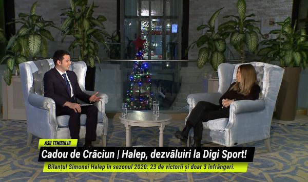 Așii Tenisului: Simona Halep, interviu în EXCLUSIVITATE, în seara de Crăciun