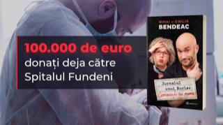 Mihai Bendeac și editura Bookzone au donat 100.000 de euro spitalului Fundeni