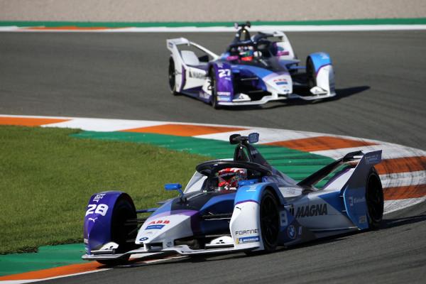 Valencia (ESP), 27th November - 1st December 2020. ABB FIA Formula E World Championship, Season 7, BMW i Andretti Motorsport, BMW iFE.21, Maximilian Günther (GER) No. 28 and Jake Dennis (GBR) No. 27, test.