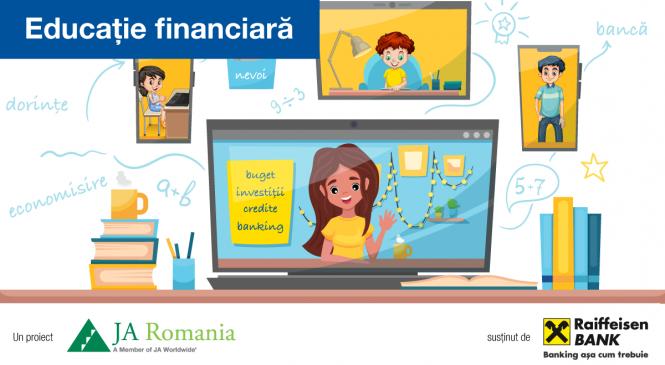 Junior Achievement (JA) România și Raiffeisen Bank continuă cursurile de educație financiară în 605 școli din România