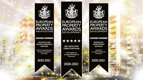 International Property Awards acordă 3 premii Companiei Impact Developer & Contractor