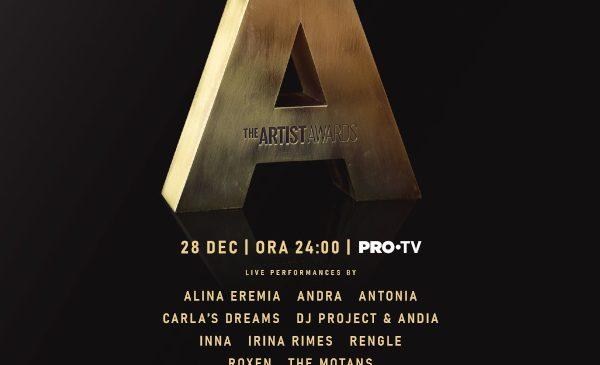The Artist Awards aduce emoție și show-uri incendiare, pe 28 decembrie, la PRO TV