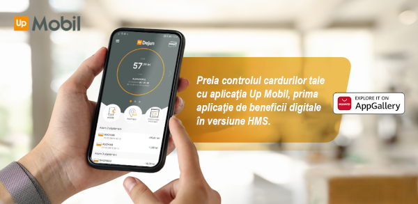 Up Mobil – prima aplicație mobilă de beneficii digitale cu versiune dedicată pentru utilizatorii Huawei