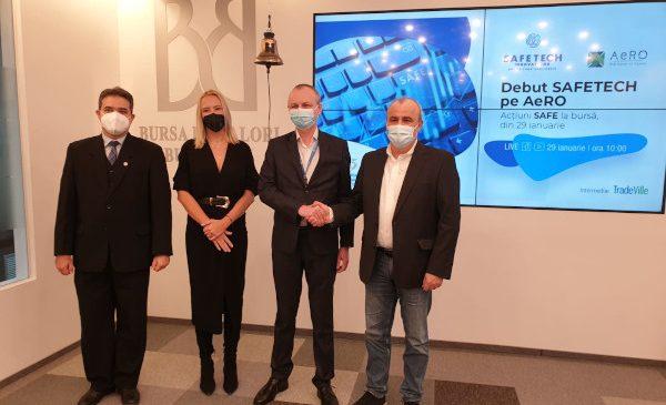 Compania de securitatre cibernetică Safetech Innovations s-a listat la Bursa de Valori București, pe AeRO