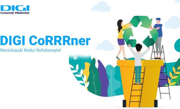 Digi CoRRRner: spațiul special din magazinele Digi pentru colectarea de deșeuri electronice, baterii și acumulatori