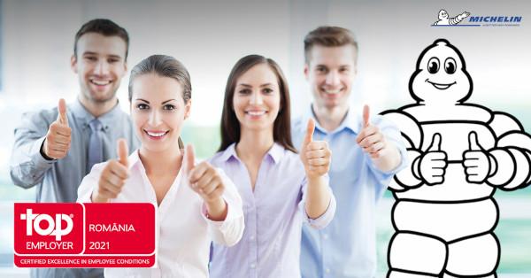 Michelin România primește certificarea de Angajator de Top pentru al doilea an consecutiv