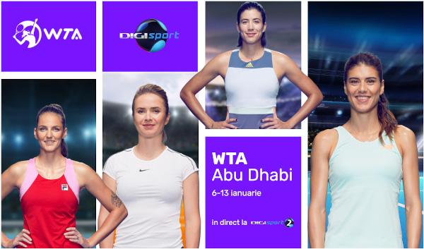 Tenisul feminin ia startul la Abu Dhabi, în direct și în exclusivitate, la Digi Sport