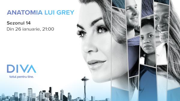Sezonul 14 al serialului Anatomia lui Grey are premiera la DIVA pe 26 ianuarie