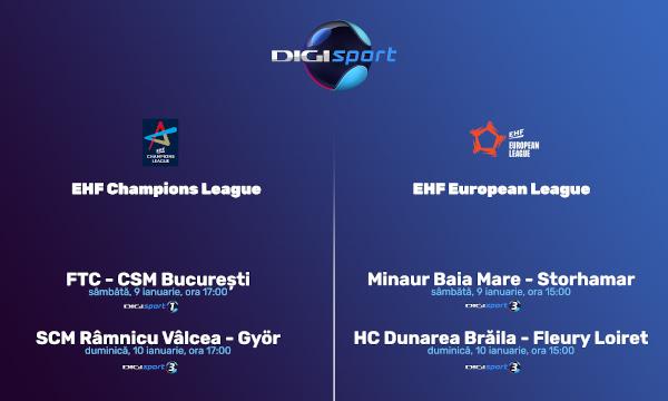 Început de an în handbalul feminin: EHF Champions League și EHF European League, în direct, la Digi Sport