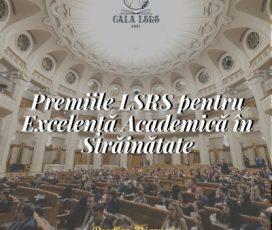 """Perioada de aplicare pentru """"Premiile LSRS pentru Excelență Academică în Străinătate"""" se apropie de sfârșit"""