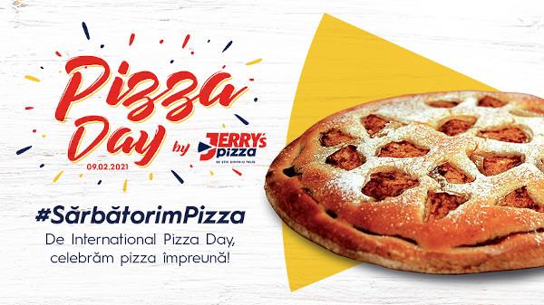 Pentru al doilea an consecutiv, Jerry's Pizza a sărbătorit alături de toți iubitorii de pizza și a oferit mii de pizza-desert cadou