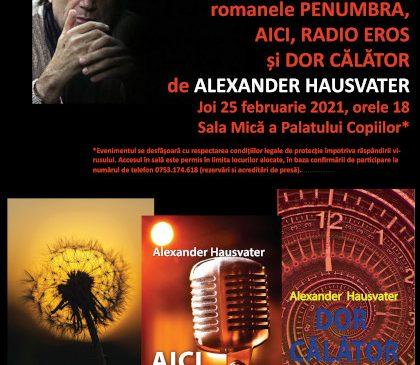 Alexander Hausvater lansează trei noi volume la editura Integral