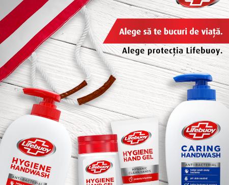 """""""Alege să te bucuri de viață. Alege protecția Lifebuoy"""" este mesajul campaniei de lansare în România a celui mai vândut săpun antibacterian din lume(1)"""