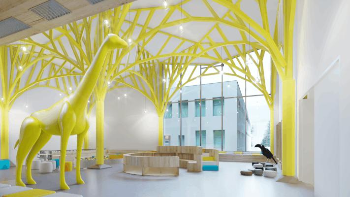 TESSERACT ARCHITECTURE concept interior Noi Facem un Spital