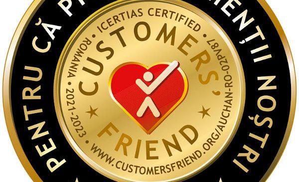 Auchan primește distincția Customers' Friend pentru respectarea celor mai bune practici în relația cu clienții