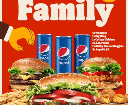 O nouă ofertă lansată de Burger King. Meniul Family – oferta pentru toată familia, disponibilă exclusiv la delivery