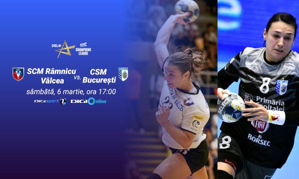 Duel românesc, în optimile EHF Champions League, în direct, la Digi Sport
