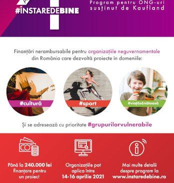 """Kaufland România investește pentru al patrulea an la rând în programul """"În stare de bine"""" și oferă finanțare de 1 milion de euro pentru proiectele organizațiilor neguvernamentale"""