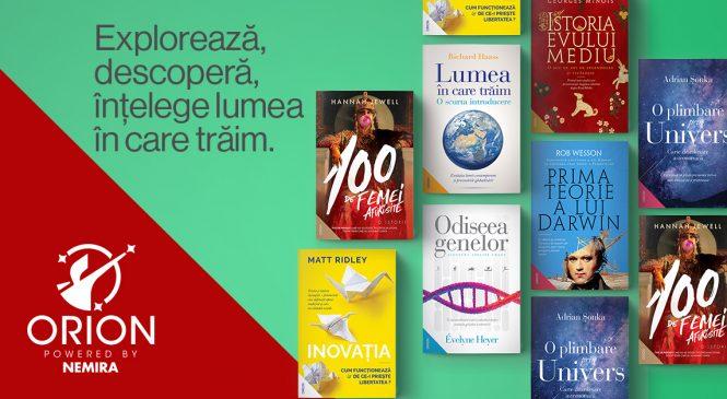 Editura Nemira lansează un imprint dedicat exclusiv cărților de nonficțiune: ORION, coordonat de Laura Câlțea