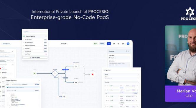 PROCESIO anunță lansarea privată internațională a platformei sale inovatoare, bazată pe tehnologia No-Code