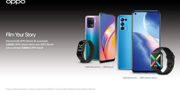 Noile smartphone-uri OPPO Reno5 sunt disponibile la precomandă