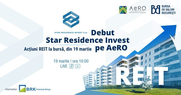Star Residence Invest, prima societate românească de tip REIT la BVB, s-a listat la Bursa de Valori București, pe piața AeRO