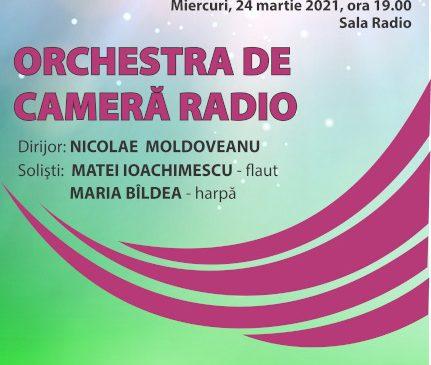 24 de ani de emisie a postului Radio România Muzical: Mozart – Concertul pentru flaut, harpă şi orchestră – LIVE de la Sala Radio