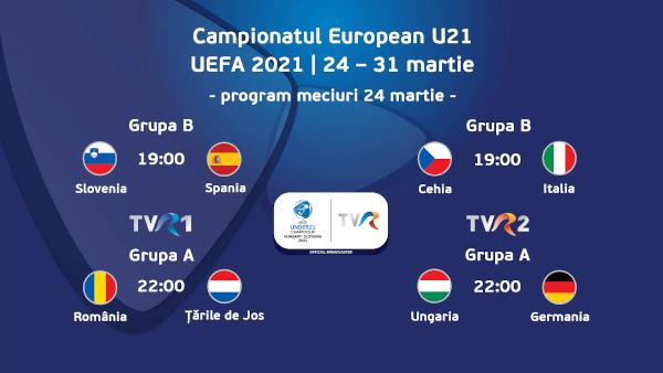 """România – Țările de Jos, primul meci al """"tricolorilor mici"""" în grupele UEFA EURO U21"""