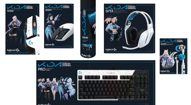 Primele produse din portofoliu Logitech G licențiate oficial League of Legends, din colecția K/DA, sunt acum disponibile global