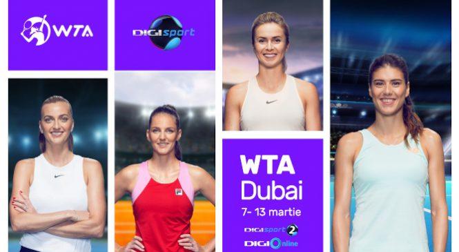 Digi Sport transmite în exclusivitate turneul WTA Dubai